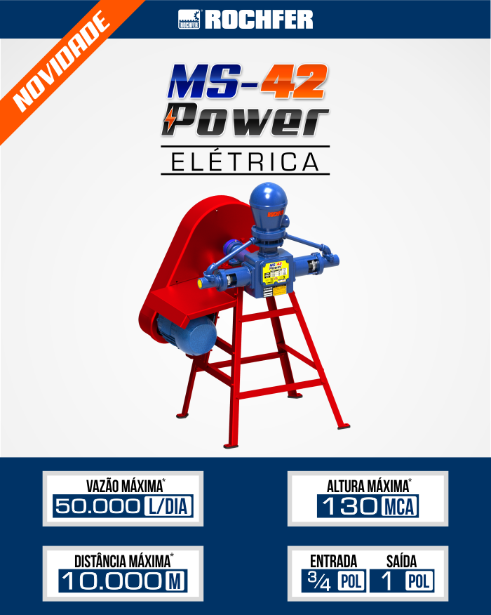 bomba ms power 42 eletrica